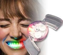 50pcs/lot  Novelty Flashing Hotsale LED Light Up Mouth Guard Piece Party Glow Tooth Creative Toys flash Party