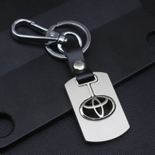Buy Men's Volkswagen Toyota Honda NISSAN Keychain Hollow silver plated Genuine Leather Car keychain Key Ring metal key chain Pendant for $2.49 in AliExpress store