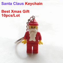 NEW Seal Bag 10pcs/Lot Santa Claus Keychain Christmas Figure Toys Gift Small Xmas Gift