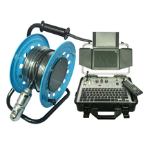 HD DVR recording box 8 inch lcd screen water pipe inspection camera with 360 degree rotate camera and 30m cable reel