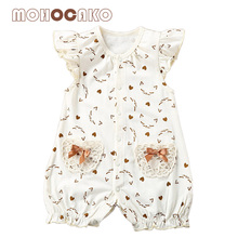 Summer Newborn Clothes Baby Girls Romper Cartoon Breathable Sleeveless Infant Baby Girl Clothing MOHOCAKO 100% Organic Cotton