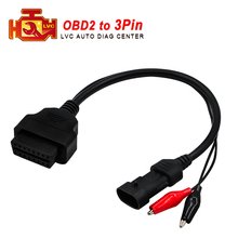 2018 for Fiat OBD1 3pin to OBD2 16pin cable for Fiat diagnostic interface 3 pin OBDII extension cord Free Shipping(China)