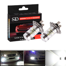 2x H7 LED Bulb 12V~24V 360 Degree Cree Chip For Car Fog Light DRL lighting Sourcing Parking -Not Fit For Headlight