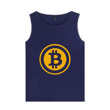 Digital currency Bitcoin Logo Print Summer Vest Tank Top Mens Bodybuilding And Plus Size bitcoin logo Tank Tops Clothes