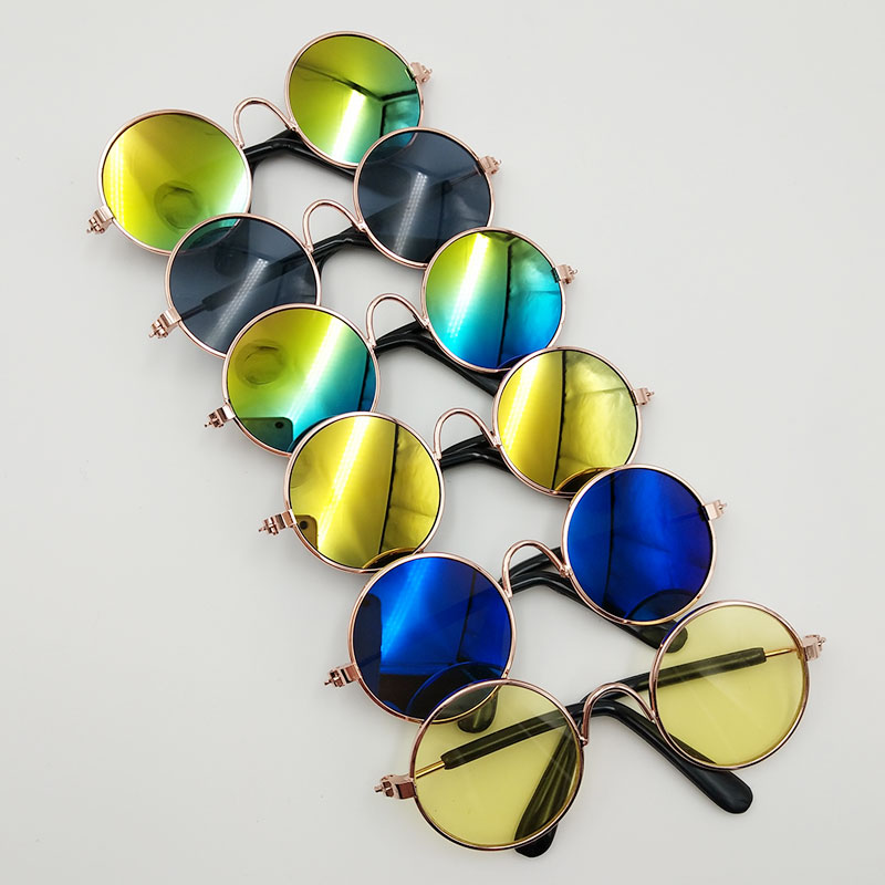 New Style Doll Accessory Polygonal Black Frame Glasses Sunglasses For Dolls