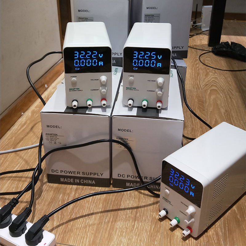 Variable DC Power Supply 30V 10A,Adjustable Regulated Power Supply mA Display, 0-30V 0-10A 300Watts Power With Alligator Cable (8)