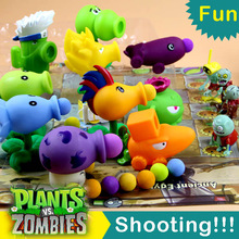 2016 New Plants vs Zombies Peashooter Figure Action Toys Plants vs Zombies Air Shoot Toy Minifigure Plants vs Zombies Game Toy