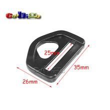 "100pcs/Pack 1"" Plastic Adjuster with bar Swivel Clip D-Ring Loop Insert Buckle Backpack Straps Webbing 25mm #FLC054-B(China)"