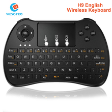 WESOPRO H9 2.4GHz Mini Wireless keyboard Remote Control touchpad Air Mouse for Smart TV Android TV box mini PC HTPC Projectors(China)