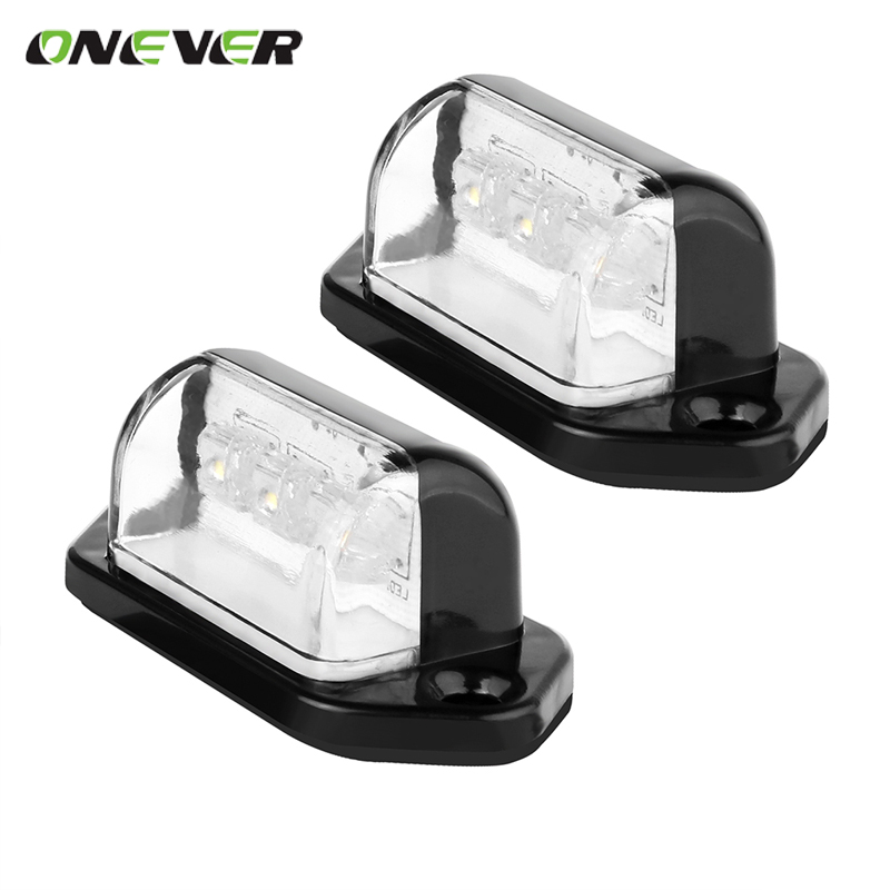 2pcs Universal Car License Plate Light Rear Tail Lamp 6000K 12V Cool White for Truck Trailer Car accessories <br><br>Aliexpress
