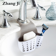 Double layer kitchen hanging storage basket ABS and TPR material sink faucet sponge holder Kitchen Shelving Drain Rack ZJ122(China)