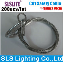 200PCS/LOT Stage Light Stainless Steel Safety Rope, Best Price Stage Light Stainless Steel Safety Cable