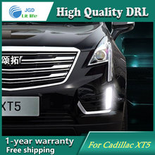Free shipping ! 12V 6000k LED DRL Daytime running light case for Cadillac XT5 2016 2017 Daytime Running Lights fog lights(China)
