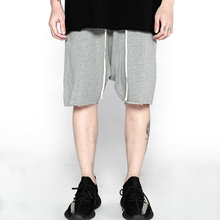 c139726d543b A5 streetwear hiphop justin bieber raw edge casual Low crotch baggy shorts  cotton Drop crotch harem