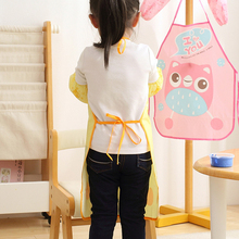 cute child kids apron set Kitchen art Baking Painting pinafore+arm sleeve PE Waterproof