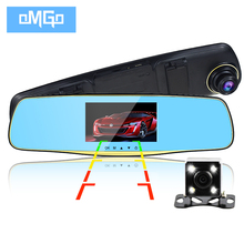 Newest dual lens car camera rearview mirror auto dvrs cars dvr recorder video registrator full hd1080p night vision dash cam