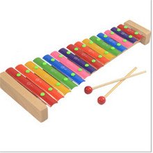 2016 Multicolor Hand knock piano children's educational toys wooden piano toy Musical Instrument educational