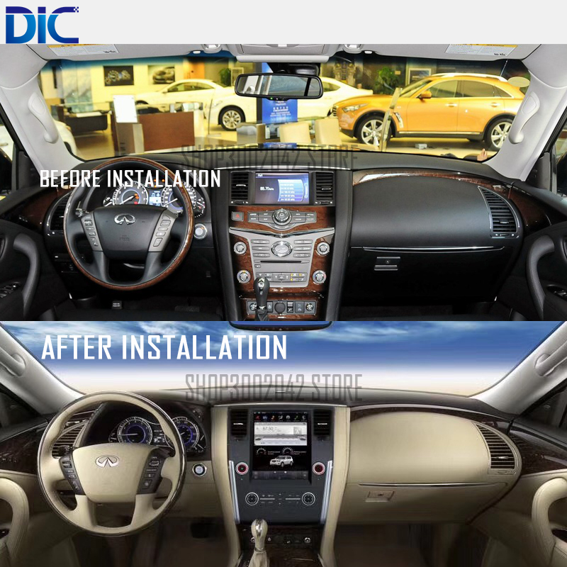 DLC Android system vertical screen car styling navigation gps player for Infiniti QX80 multifunction system support can bus mp3