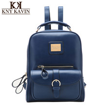 271261052f9f KNY KAVIN Women Backpack High Quality PU Leather School Bags for Teenagers  Girls Top-handle Backpacks Fashion Mochila Escolar