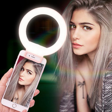 Ulanzi ISF LED Selfie Ring Light Supplement Brightness Beautify Photography Video Light Universial Clip-on for iphone X 7 Xiaomi(China)