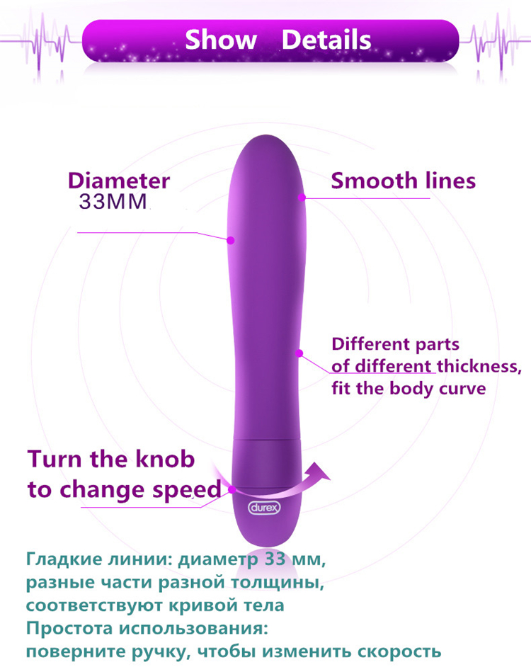Durex High Quality Erotic Sex Toys For Women G-spot Vibes Multi Speeds Vibrating Body Massager Bullet Vibrators Sex Products 11