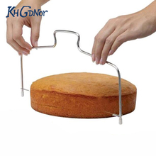 Stainless Steel Cake Cut Tools Double Line Adjustable Cake Slicer Device Decoration Mold For Baking(China)