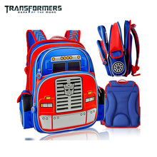 THE TRANSFORMERS cartoon car orthopedic school bag book shoulder backpacks portfolio for childre/kids boys grade 1-4