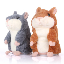 Cuddly Talking Hamster Plush Toy Sound Record Speaking Hamster Talking Toys Mouse Pet Plush Toy Doll Children Baby Gifts(China)