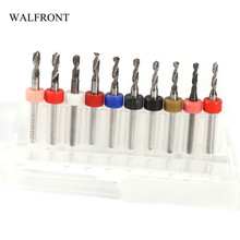 WALFRONT 10pcs/Set Carbide PCB Drill Bits Print Circuit Metal Drilling Power Tools HHS Mixed Color Woodworking Repair Tools Set(China)