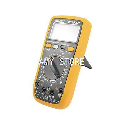 Yellow Blk 2V-750V AC Voltage Resistance Meter Digital Multimeter w 2 Test Lead VC890C+<br><br>Aliexpress