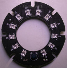 Pure Infrared 12x IR LED  board for CCTV cameras night vision (45mm diameter)