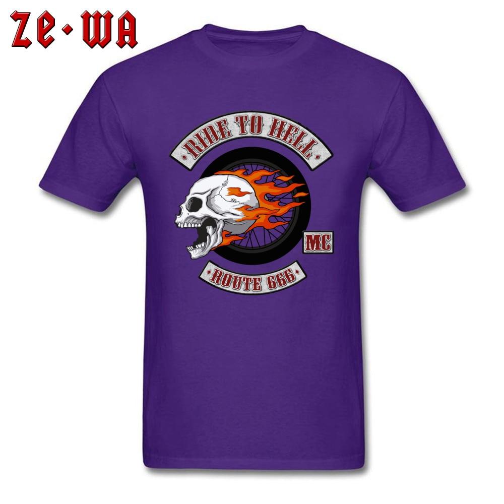 2018 Newest Men's T Shirt Rider Logo Printed T Shirts 100% Cotton Short Sleeve Printed Top T-shirts O-Neck Wholesale Rider Logo purple