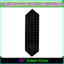 "20"" Green Color Gas Price Sign LED Display 7 Segment LED Oil Price Broad"