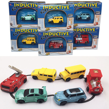 Original packaging magic toy truck Kids Draw lines Induction car Magic Pen plastic Toy Vehicles Creative toys for children