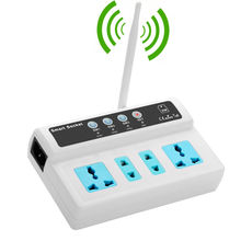 GSM Smart Switch with 4 Power Socket Remote Control By SMS Call for Home Appliance ON OFF Timing Tasks Temperature Sensor option