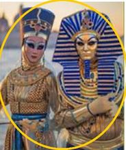 100%real venice carnival Egyptian men/ Egyption women gown with handmaking hat and mask egypt cosplay can customs make(China)
