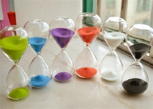 Colorful Sand Glass Hourglass Clock Timer 15 minutes Home Desk decor Xmas Birthday Gift(China)