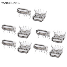 10PCS USB Type A Standard Port Female Solder Soldering Jacks Connector