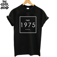 Buy THE COOLMIND Casual O-Neck Short Sleeve 1975 Printed Women T Shirt Loose Cotton Knitted woman T-Shirt girl tees shirt for $5.98 in AliExpress store