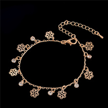 Atreus DIY Multi Designs Clear Crystal Rhinestone Charm Drop Ankle Gold Color Chain Bracelet Anklet Wedding Jewelry Accessories