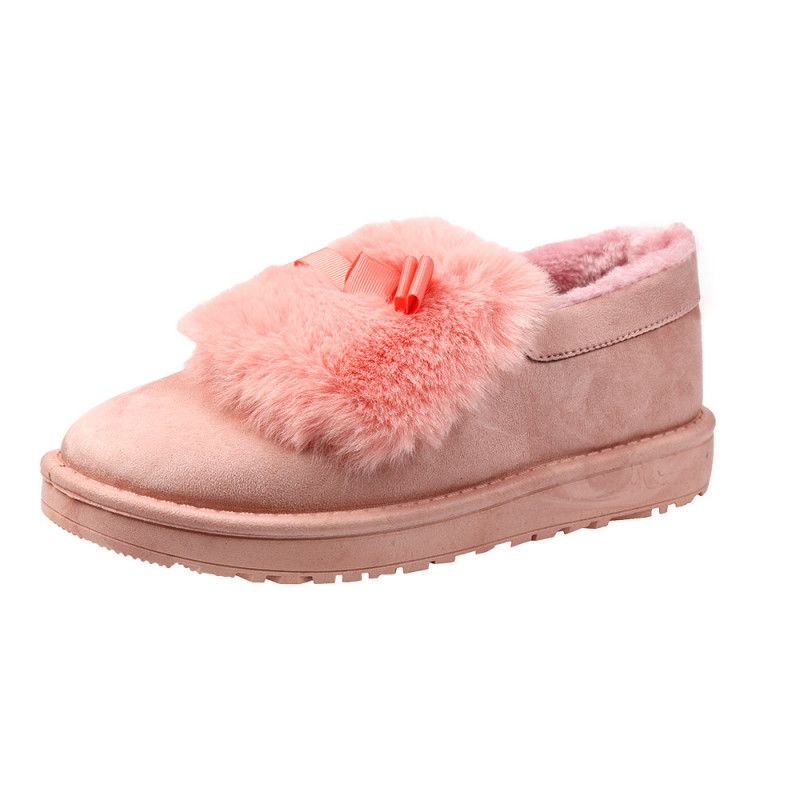 New Style Fashion Women Boots Ladies Flat Ankle Fur Lined Womens Winter Warm Outdoor Snow Boots Female Lazy Shoes High Quality<br><br>Aliexpress