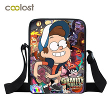 Gravity Falls Shoulder Bag Boys Girls Mini Messenger Bag Mabel Dipper Children School Bags Anime Bao Bao Toddlers Crossbody Bag