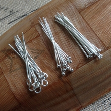 Free Shipping 30MM 300Pcs Silver Color Jewellery Eye / Ball / Flat Head Pins DIY Jewelry Findings & Accessories
