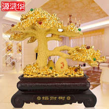 home decoration accessories Factory direct resin handicraft ornaments living room office every day lucky tree ornaments gifts
