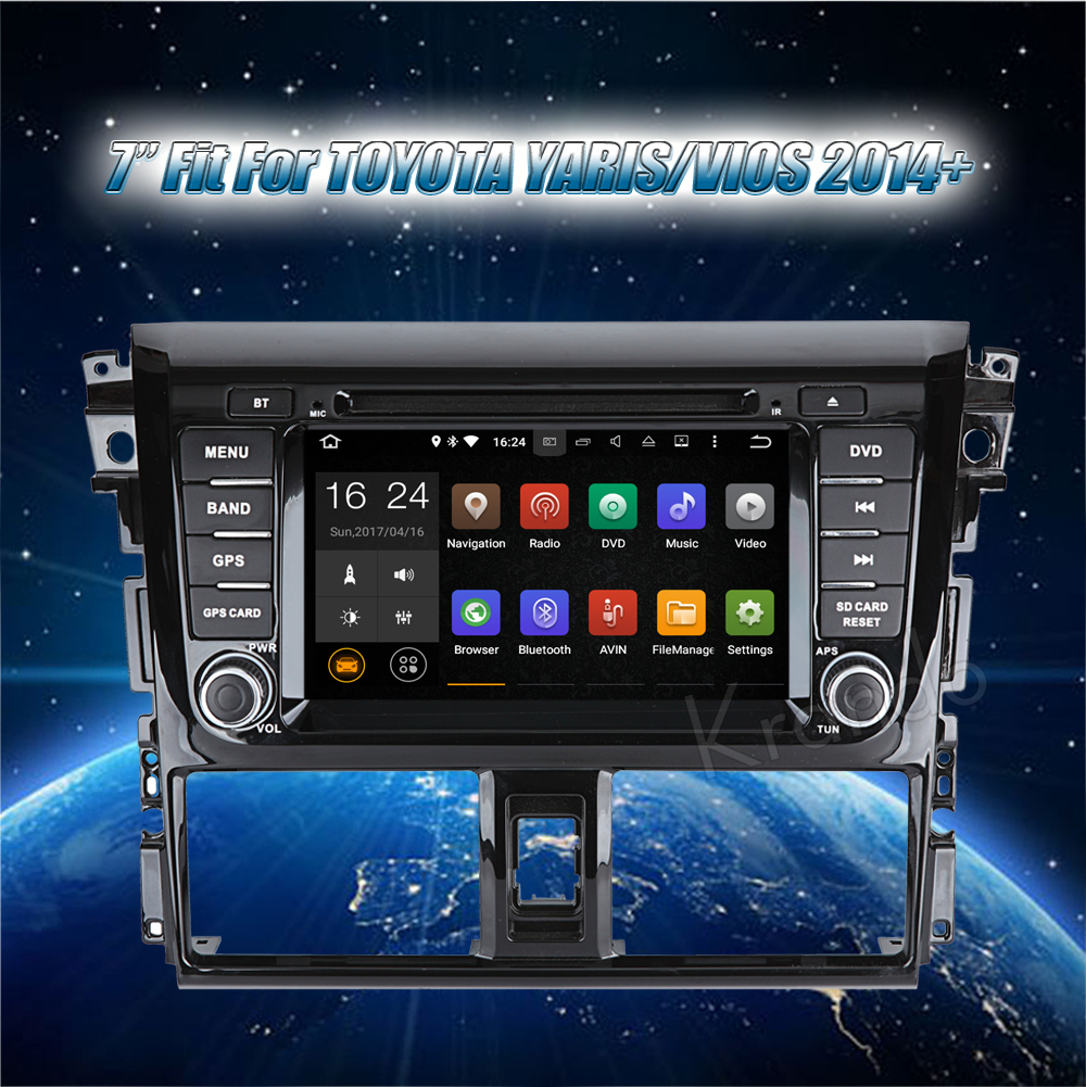 Krando android car radio stereo navigation gps for toyota yaris vios 2014 2015 2016 car dvd player multimedia system (2)