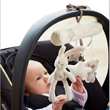 New Arrive Hot Sale Mamas&Papas Cot Hanging Toy Baby Rattle Toy Soft Plush Rabbit Musical Mobile Products
