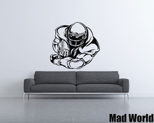 Mad World-Football Player Football Theme Wall Art Stickers Wall Decal Home DIY Decoration Removable Room Decor Wall Stickers