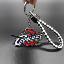 Most Popular Team Logo Key Chain Braided Rope KeyChain Domineering Knight Sword Key Chains Basketball Key Ring Fans Gifts