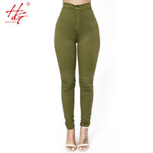 HG A11 2016 women color pants black leggings female thin trousers green pants stretchy red leggings femme