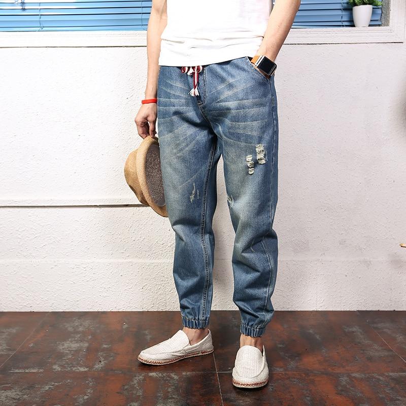 Jeans For Men 2017 New Fashion Light Blue Baggy Jeans Skateboarder Denim Pants Harlan Pants Plus Size 4XLОдежда и ак�е��уары<br><br><br>Aliexpress